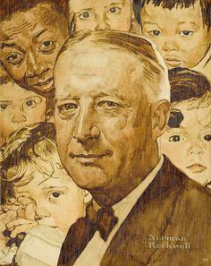 Norman Rockwell - Al Smith, 1945