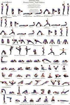 Ashtanga Yoga Poses, Ashtanga Yoga Primary Series, Yoga Sequences, Iyengar Yoga, Kundalini Yoga, Yoga Bewegungen, Yoga Moves, Yoga Exercises, Yoga Flow