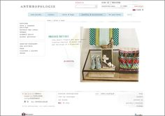 E-commerce web site design: www.anthropologie.eu
