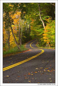 Road to Autumn - Great Barrington, Massachusetts by Adam Burton