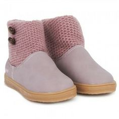 Alex and Alexa #Sale: Pink Knit Button #Boots now $26