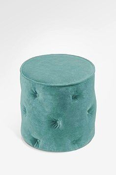 robin egg blue and ottomans are a perfect combo! Also, tufting. Love me some tufting