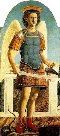 San Michele Arcangelo è un dipinto, tecnica mista su tavola (133x59,5 cm), di Piero della Francesca, databile al 1454-1469 e conservato nella National Gallery di Londra. Si tratta del secondo pannello da sinistra dello smembrato e parzialmente disperso Polittico di Sant'Agostino, originariamente dipinto per la vecchia chiesa agostiniana di Sansepolcro, oggi Santa Chiara.