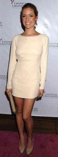 Nude perfection. Olcay Gulsen dress, Chinese Laundry shoes.