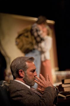 David Compton as Roger Lambert in the world premiere of ROGER'S VERSION, adapted by Wes Driver from the novel by John Updike.