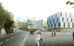 URBAN AGENCY Unveils Proposal for Kronberg School of Music,Exterior Rendered View. Image Courtesy of URBAN AGENCY