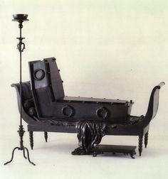 René Magritte: Madame Recamier of David, Chandelabre, sofa and coffin: cm. Houston (Texas), courtesy of The Menil Colection Rene Magritte, Goth Home, Victorian Goth, Gothic House, David, Memento Mori, Casket, Land Art, Art Festival