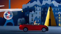 HERTZ & AIR FRANCE x AND THE VOYAGE GOES ON x ABBIE STEPHENS on Vimeo
