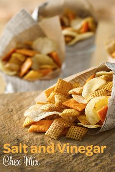 For anyone who loves the savory tangy taste of salt & vinegar chips, let this Chex Party Mix to be your game day snack companion :)