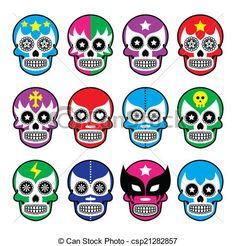 mascaras de lucha libre mexicana dibujos - Buscar con Google