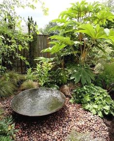 Small Water Features In Every Small Garden - Garden Design House Diy Water Feature, Backyard Water Feature, Ponds Backyard, Backyard Landscaping, Landscaping Ideas, Japanese Water Feature, Backyard Ideas, Backyard Waterfalls, Backyard Shade