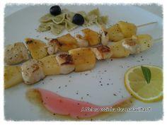 A Nel na cozinha das maravilhas...: Espetadas de frango com maçã e ananás