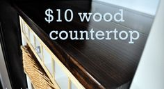 Wood counter tutorial - Some things are better left pinned to a pintrest board and not actually attempted. You just know this is going to be Amanda Bynes level disaster.