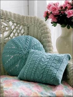 cushion pebbles knitting pattern 99p