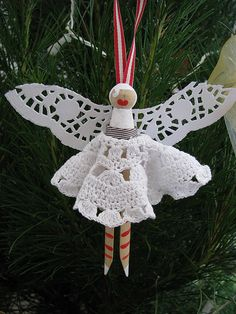 Christmas fairy peg doll | Flickr - Photo Sharing!