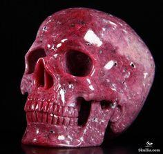 Ruby Crystal Skull Sculpture worth $19,950!!!! Beautiful