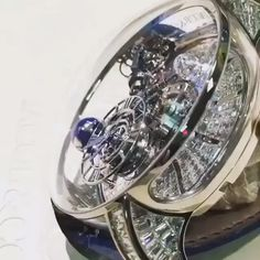 Amazing Video of the High Jewelry Astronomia Tourbillon (With images) Fancy Watches, Expensive Watches, Best Watches For Men, Stylish Watches, Luxury Watches For Men, Cool Watches, Rolex Watches, Cartier, Skeleton Watches