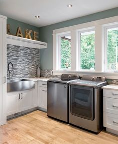 Custom Laundry Room By South Shore Cabinetry, Vancouver Island, BC  #laundryroom #customcabinetry