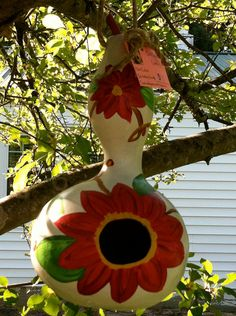 Hand Painted Gourds by TheFancyPaw on Etsy, $12.00