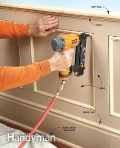 MDF (medium-density fiberboard) is inexpensive, durable, and a good choice for many woodworking and carpentry projects. Learn how to use MDF wood correctly. Carpentry Projects, Home Projects, Woodworking Skills, Woodworking Plans, Woodworking Techniques, Woodworking Shop, Woodworking Patterns, Woodworking Quotes, Woodworking Equipment