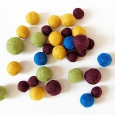 These little balls of felted wool seem to be all the rage lately. But really, who doesn't love these soft, bouncy, colorful woolen spheres? I've been on a bit of a felted ball frenzy la…