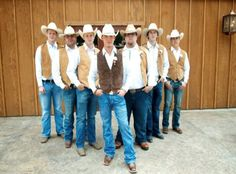 In-vest in a fun wedding theme with Wedspire.com! Round up all your planning with custom Western attire for the country groom & his boys!
