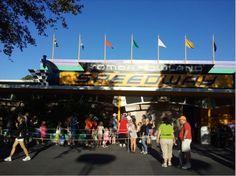 Take a drive down the Tomorrowland Speedway!