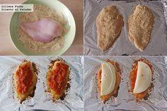 Pechugas de pollo a la parmesana. Pasos