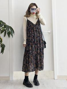 Korean Fashion – How to Dress up Korean Style – Designer Fashion Tips Mode Outfits, Retro Outfits, Vintage Outfits, Fashion Outfits, Street Hijab Fashion, Mode Ootd, Mode Hijab, Look Fashion, Korean Fashion