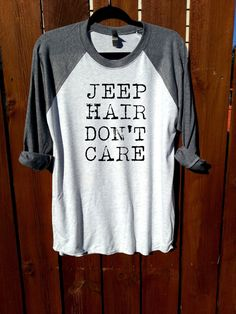women shirt,women clothing,fashion shirt, unisex shirt,heather grey/heather white,jeep hair don't care,women tee,tee,funny shirt