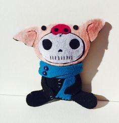 BettysWhimsies @ Etsy ... https://www.etsy.com/listing/464888810/felt-creature-skeleton-pig?ref=shop_home_active_12