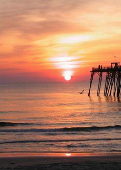 Sunset at Kure Beach, Paradise Island, NC