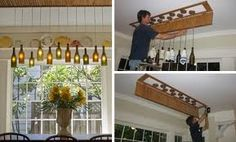 Leftover Wine Bottles? DIY Wall Mounted Wine Bottle Wall Vases (Blog Revisit!) - her social network