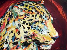 LEOPARD SPIRIT, oil on canvas by Matthys Moss.