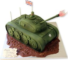 Cool Tank Cake...needs a USA flag though!
