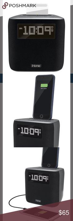 IHome Speaker Clock Radio iHome iPL24 Dual Alarm IHome Speaker Clock Radio iHome Dual Charging Dock & Clock Radio, Black, Features: Radio, With iPod / iPhone Dock, aux-in jack to listen to almost any audio device, equipped with a headphone jack. Wake up to favorite music, Space-saving design Dual alarms let your choose 2 separate wake times and alarm sources, speaker chamber, Syncs clock time, Clock Radio with Apple Dock Cradle - aux-in jack to listen to almost any audio device, equipped…