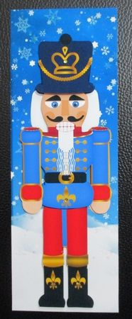 Nutcracker Soldier Christmas Step by Step Large Dl on Craftsuprint created by Davina Rundle - I printed on to matte photo paper. Mounted the topper on to a card and layered. Added glitter and gems. A sentiment can be added if required. a gorgeous design.
