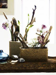 Fancy DIY Rope Wrapped Vases, Jars