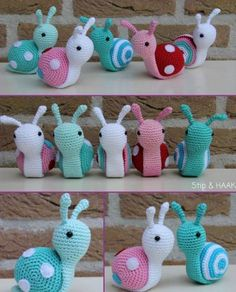 Crochet Stuffed Snails Free Pattern