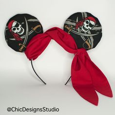 Pirate Inspired Ears Headband, Minnie Ears, Embellished Minnie Ears, Disney Cruise Ears by ChicDesignsStudio on Etsy