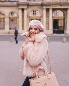 Happy (and I linked this outfit in my profile) #pinkparis #gmgtravels #fauxfur #pink #paris #parisjetaime #parismonamour #pinklady