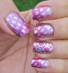nailallure: Valentine #nail #nails #nailart