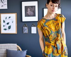 Inspired by Wordsworth, our floral print dress boasts a vibrant, exclusively-designed daffodil print. Belted at the waist, this Tencel dress is designed to flatter your figure and features functional pockets making it perfect for daytime dressing. Stunning Dresses, Beautiful Outfits, Beautiful Clothes, Fall Dresses, Cotton Dresses, Natural Clothing, Ethical Clothing, Timeless Fashion, Floral Prints