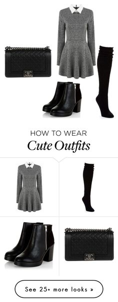 """""""Super cute formal outfit"""" by emma-sturbucks on Polyvore featuring Hue and Chanel"""