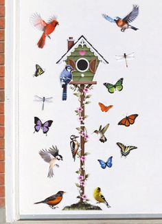 Springtime Birdhouse Garage Magnets - 18pc.
