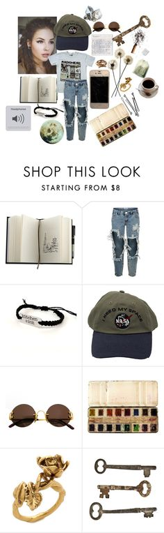 """Radiohead 1"" by causingpanicatthetheater on Polyvore featuring One Teaspoon, Cartier, Aurélie Bidermann, BOBBY, Jayson Home and Reyes"