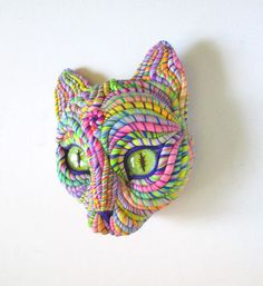 Cosmic Cat Wall Sculpture by JanePriserArts on Etsy