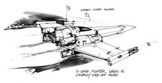 x wing concept art - Google Search