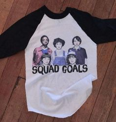 Stranger things squad goals - Baseball ringer tee - for kids and adults