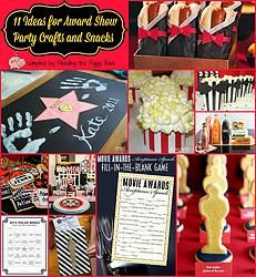 11 Ideas for Award Show Party Crafts and Snacks -- The MTV VMAs are on Sunday, August 30th, if you have a tween or teen that plans to watch it, particularly with friends, you can get some awesome ideas for snacks and activities with my post!